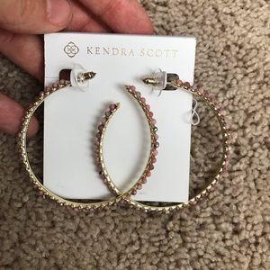 NWT Kendra Scott gold birdie earrings